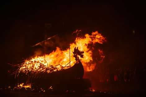 Promote Shetland's broadcast of Lerwick's Up Helly Aa attracted again a worldwide audience - Photo: Alex Mazurov/Promote Shetland