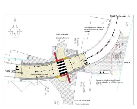 A detailed drawing of the work planned for the Church Road crossing.
