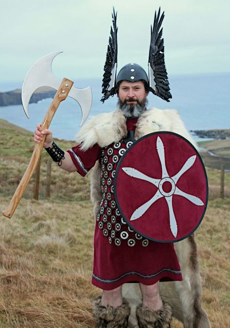 Norwick Up Helly Aa guizer jarl Michael Spence - Photo: Desley Ritch