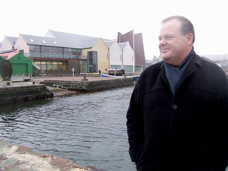 Jimmy Moncrieff pictured outside Shetland Museum and Archives, one of numerous projects he oversaw in his time at the amenity trust.