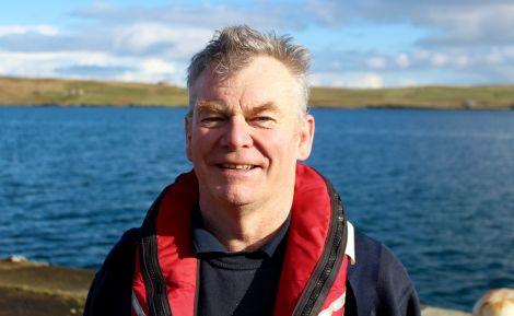Lerwick Lifeboat coxswain Alan Tarby. Photo: Shetland News/Chris Cope