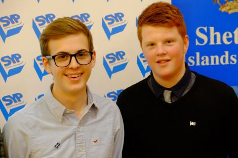 Shetland's new MSYPs Sonny Thomason and Charlie Haddon.