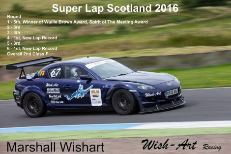 Marshall Wishart broke the Knockhill lap record twice in 2016.