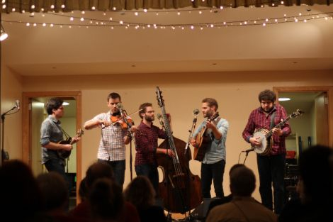 The Lonely Heartstring Band entertaining the Bigton audience. All photos by Louise Thomason.