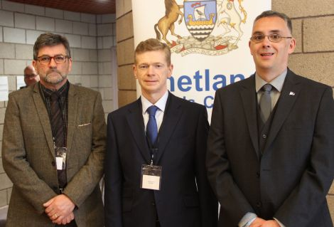 The successful Lerwick North candidates Stephen Leask, Malcolm Bell and John Fraser. The fourth candidate, Thomas Williamson, stood on a Conservative ticket but urged people not to vote for him.