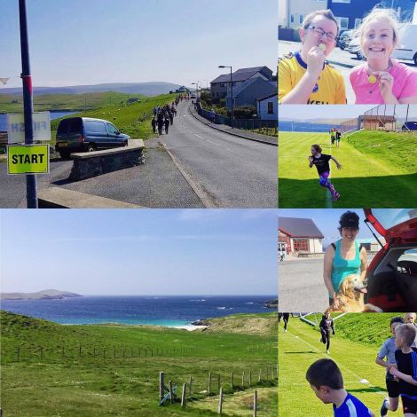 A collage of images from the Burra fun run. Photo: Merran Nugent