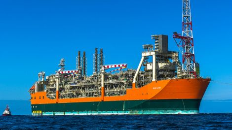 The Glen Lyon FPSO (floating production storage and offloading) vessel. Image courtesy of BP.