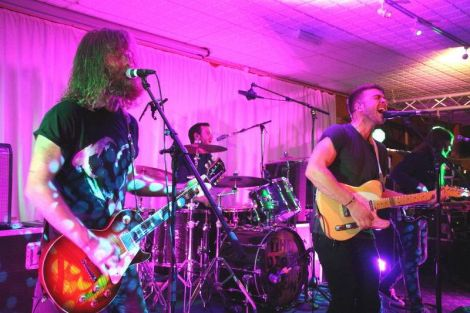 Up-and-coming indie band Hunter and the Bear impressed at the Lerwick Legion on Friday night. Photo: Davie Gardner.