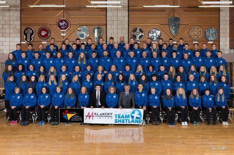 Team Shetland is 129-strong for this year's games in Gotland. Photo: John Coutts.