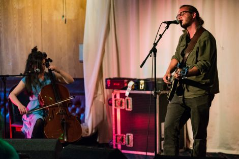 Willy Mason, accompanied by Siobhan Wilson on cello, delivered something of a songwriting masterclass at the Lerwick Legion on Monday night. Photo: Steven Johnson.