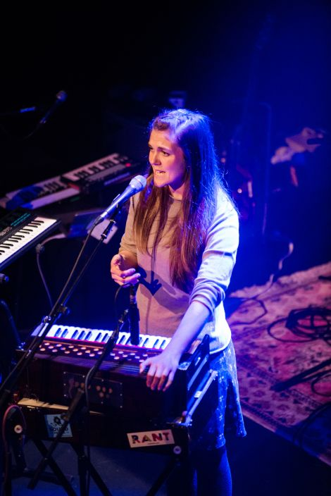 Jenny Sturgeon, who now lives in Shetland, was one of the night's opening acts. Photo: Steven Johnson