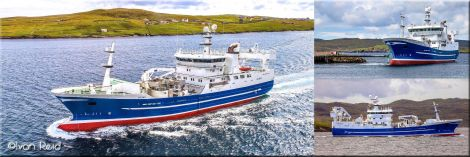 The Charisma leaving Whalsay at the weekend. Photos: Ivan Reid