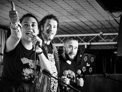 Heavy Metal Buffet's Marjolein Robertson, Jamie Dalziel and Dirk Robertson.