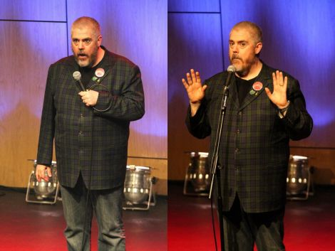 Comedian Phill Jupitus performing at Mareel on Saturday night. Photos: Davie Gardner.
