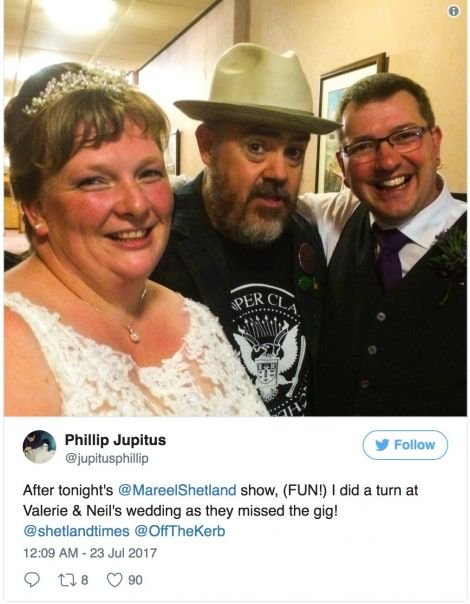 Jupitus shared the news on his Twitter page, which has over 200,000 followers.