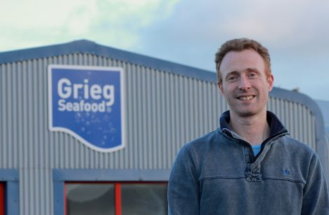 "Grieg Seafood Hjaltland managing director Grant Cumming: ""It may be much more difficult in the future recruiting."""