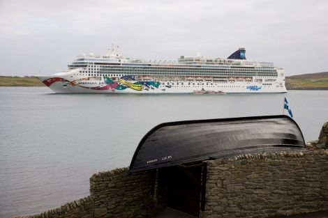 The Norwegian Jewel during a visit to Lerwick earlier this year. Photo: John Coutts