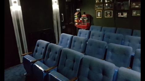 Harris' 20-seat cinema is said to be the smallest in Scotland.