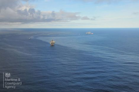 BP said the oil from the Clair platform broke up naturally. Photo: MCA