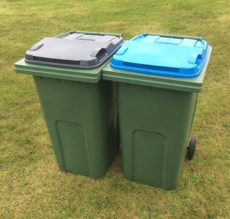 Householders across Shetland will be receiving wheelie bins next year for recyclable materials. Photo: SIC