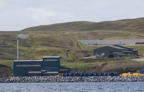 SIC's waste management site (right) next to the waste to energy plant. Photo: Shetland News