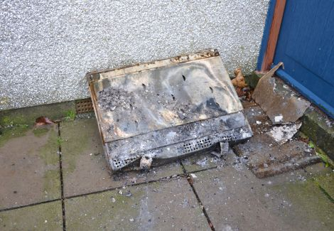 The living room radiator which the fire emanated from.