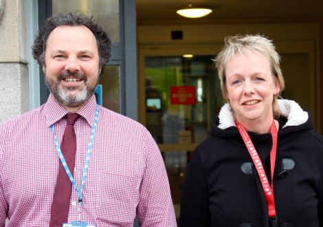 New clinical nurse manager Graham Laing (left) and head of mental health services Karen Smith (right). Photo: Chris Cope/Shetland News