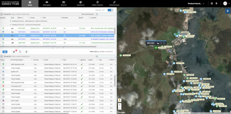 A screenshot of the monitoring system in action.
