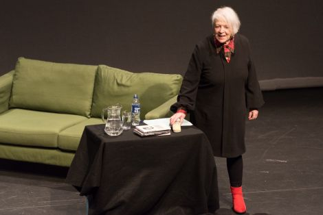 Liz Lochhead 'top of the list'. Photos: Steven Johnson