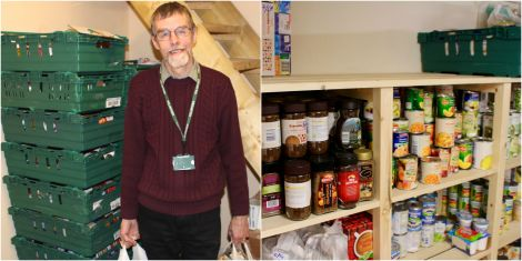 Shetland Foodbank manager David Grieve. Photos: Chris Cope/Shetland News