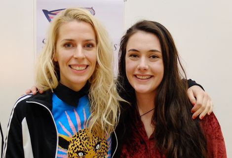 Top English comedian Sara Pascoe shared a bill with up-and-coming local comic Marjolein Robertson at Mareel on Saturday night. Photo: Shetland News/Alex Garrick Wright.