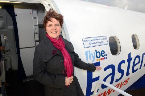 "Community hero Sharon Deyell: 'It still hasn't sunk in."" Photo: Flybe"