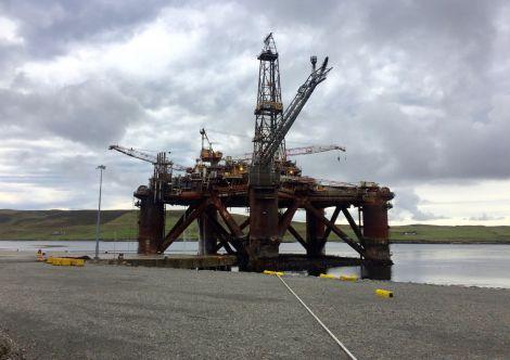 The Buchan Alpha platform at Dales Voe. Photo: Hans J Marter/Shetland News