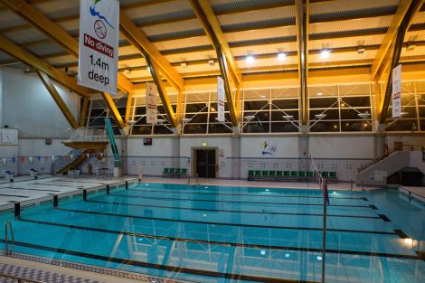 The swimming pool at Clickimin Leisure Complex. If Shetland Recreational Trust was snared by the overhauled business rates scheme, it could lose out to the tune of £750,000 a year.