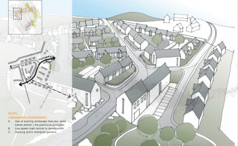 An early impression of how one of the four new schemes might look.