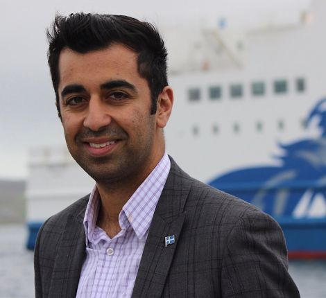 "Transport and islands minister Humza Yousaf: ""if money for internal ferries for Orkney and Shetland is in the budget, will they support it?"" Photo: Shetland News/Hans J. Marter."