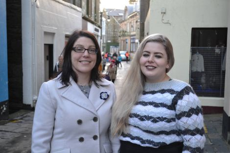 Emma Miller (left) and Selina-May Miller (right) are taking on the management of Living Lerwick. Photo: BBC Radio Shetland