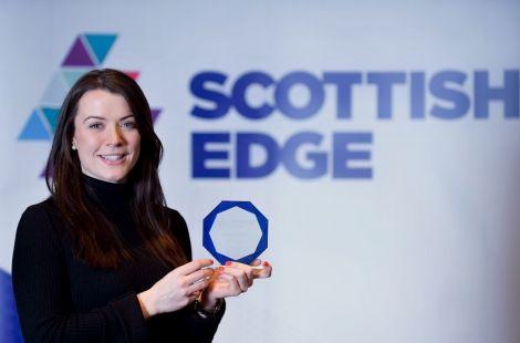 Evonne Morrison with her Scottish Edge award.