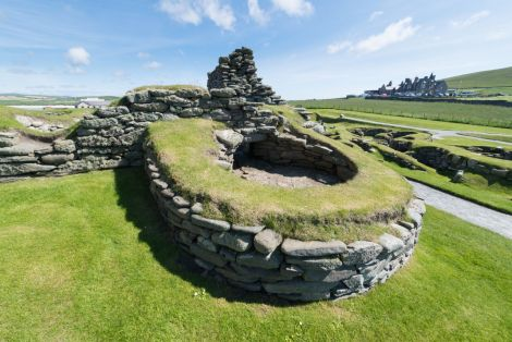 The Bronze Age broch and wheelhouses have survived for more than 4,000 years despite the sea's best attempts to wash them away.