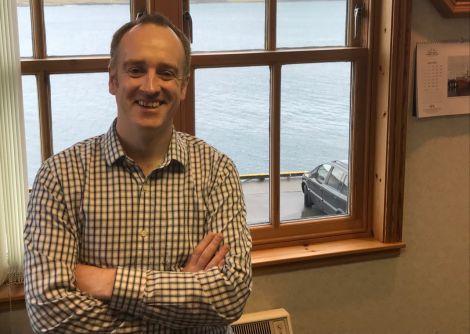 NB Communication managing director David Nicol. Photo: Shetland News/Neil Riddell.