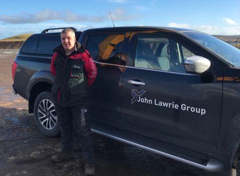 Site manager Lyndon Leask. Photo: Neil Riddell/Shetland News