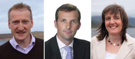 At loggerheads: northern isles constituency MSPs Tavish Scott and Liam McArthur and SNP Highlands and Islands MSP Maree Todd.