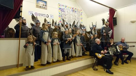 Uyeasound Up Helly Aa can look back at a history of more than 100 years . Photo: Kevin Osborne