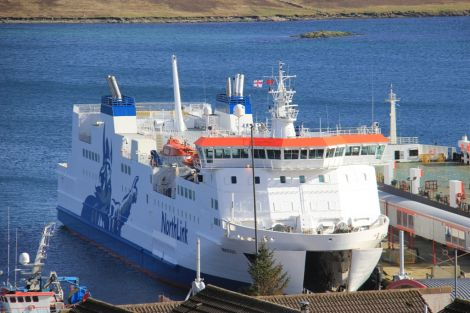 Serco NorthLink passenger vessel MV Hrossey at Holmsgarth. Photo: Lerwick Port Authority.