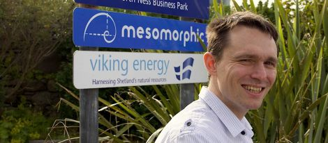 Mesomorphic managing director Barnaby Mercer. Photo: Hans J Marter/Shetland News