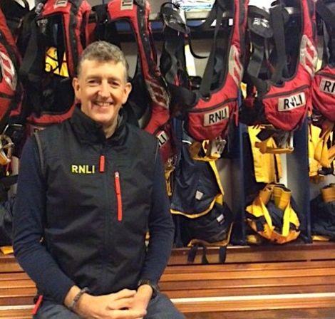 Aith lifeboat's new coxswain Adam James. Photo: RNLI