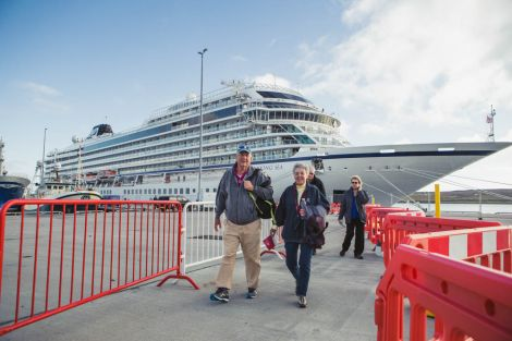 Lerwick Harbour's Mair's Pier provides additional berthing capacity for mid-sized cruise ships. Photo: Calum Toogood/Lerwick Port Authority.
