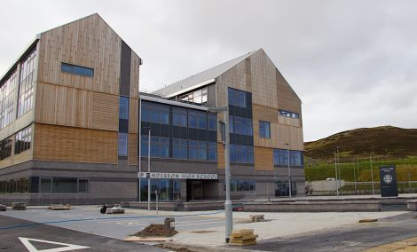 Forty two per cent of pupils at Lerwick's Anderson High School achieved five Highers or more, fewer than expected according to a government benchmark. Photo: Shetland News