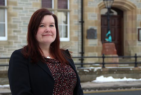 SIC chief executive Maggie Sandison: 'the pressures are continuing'. Photo: Shetland News