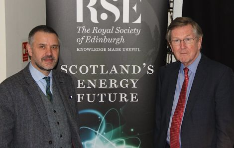 Professor Gavin Little (left) and chairman of the inquiry Sir Muir Russell at the Shetland Museum and Archives on Wednesday evening. Photo: Hans J Marter/Shetland News